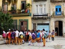 Skolbarn havannacigarr, Kuba Fotografering för Bildbyråer