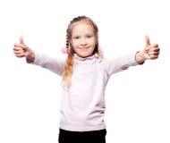 Skolbarn på vit Fotografering för Bildbyråer