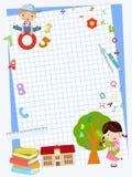 Skolbarnbakgrund Fotografering för Bildbyråer