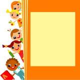 Skolbarns bakgrund Royaltyfri Foto