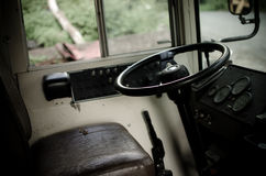 Skolbussinre Royaltyfri Bild