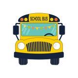 Skolbusslägenhet Royaltyfri Illustrationer