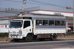 Skolbusslastbil av skolan för nordlig region för rullgardinen Royaltyfri Foto