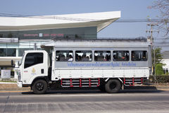 Skolbusslastbil av skolan för nordlig region för rullgardinen Royaltyfri Bild