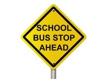 Skolbussstoppet undertecknar Arkivbild