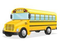 Skolbussvektorillustration Fotografering för Bildbyråer