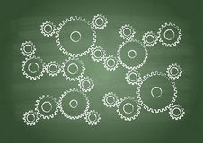 Skolförvaltning. Kugghjul vektor illustrationer