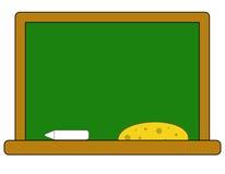 Skolförvaltning med en krita och en svamp vektor illustrationer