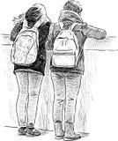 skolungdom royaltyfri illustrationer