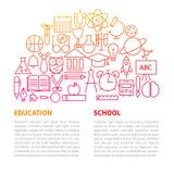 Skolutbildninglinje mall Arkivfoton