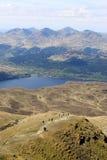 Skomakaren, Tarbet, Loch Lomond från Ben Lomond Royaltyfri Fotografi