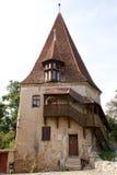 Skomakarnas torn, Sighisoara, Rumänien Royaltyfri Fotografi