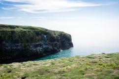 Skomer ö, en sikt av ön arkivbild