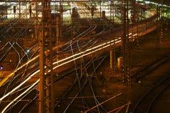 Skomplikowana sieć kolejowa fotografia royalty free