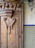 Skomplikowany drzwi, Południowo-zachodni projekt Zdjęcia Royalty Free