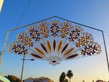 Skomplikowany Feria portal w Andaluzyjskiej wiosce Zdjęcie Stock