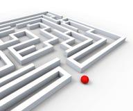 Skomplikowany labirynt Pokazuje złożoność I wyzwania ilustracji
