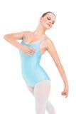 Skoncentrowany ładny balerina taniec zdjęcia stock