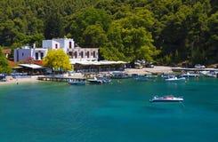 Skopelos海岛在希腊 免版税库存图片
