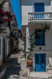 Skopelos blue doors Royalty Free Stock Image