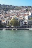 Skopelos city village view royalty free stock photos