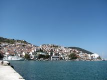 Island skopelos in Greece stock photos