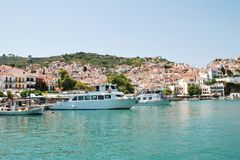 Skopelos harbour, Greece Stock Photo