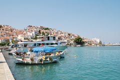 Skopelos harbour, Greece Stock Photos