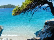 Skopelos island coast royalty free stock photo