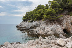 Skopelos Island. Views of beautiful coast and beach in Skopelos island, Greece stock image