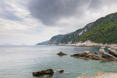 Skopelos Island. Views of beautiful coast and beach in Skopelos island, Greece stock photography
