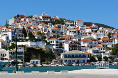 Skopelos, isola greca Fotografia Stock Libera da Diritti