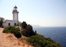 Skopelos lighthouse Stock Photos