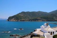 Skopelos ` monaster Zdjęcie Stock