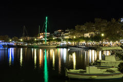 Skopelos By Night Royalty Free Stock Photos