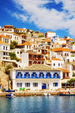 Skopelos Old Town as seen from the water Stock Photo