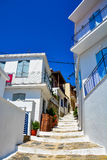 Skopelos old town Stock Images