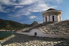 Skopelos ortodox churche Stock Photos