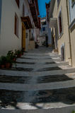 Skopelos steps Royalty Free Stock Photos