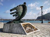 Skopelos Town Harbor Monument Stock Photos