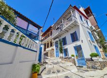 Skopelos town one of the Sporades Island in the Aegean Sea