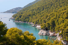 Skopelos wyspa obrazy royalty free