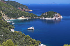 Skopeloseiland in Griekenland Stock Foto