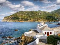 Skopeloseiland Griekenland Stock Foto