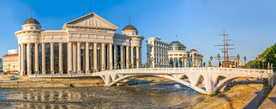 Skopje art Eye Bridge Royalty Free Stock Images