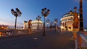 Skopje de stad in royalty-vrije stock afbeelding