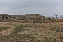 SKOPJE, DIE REPUBLIK MAZEDONIEN - 24. FEBRUAR 2018: Skopje-Festung Kohlfestung in der alten Stadt Lizenzfreie Stockbilder