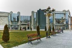 SKOPJE, DIE REPUBLIK MAZEDONIEN - 24. FEBRUAR 2018: Holocaust-Museum in der Stadt von Skopje Lizenzfreies Stockbild