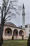 SKOPJE, DIE REPUBLIK MAZEDONIEN - 24. FEBRUAR 2018: Moschee in der alten Stadt der Stadt von Skopje Lizenzfreies Stockfoto