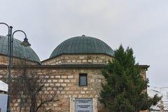 SKOPJE, DIE REPUBLIK MAZEDONIEN - 24. FEBRUAR 2018: National Gallery von Mazedonien - Daut Pasha Hamam, Skopje Stockbilder